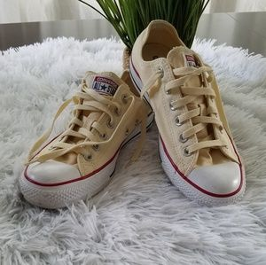 Converse low top off white sneakers